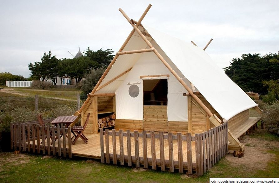 Canvas And Wood Tents